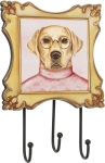 Yellow Lab Coat Leash Hook Rack from Primitives by Kathy