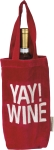 Yay! Wine Luxe Velvet Red Wine Carrier Bag Tote from Primitives by Kathy