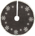 Velvet Snowflakes Christmas Tree Skirt 24 Inch from Primitives by Kathy