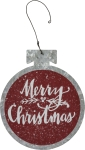 Bulb Shaped Merry Christmas Metal Hanging Ornament 5.25 Inch from Primitives by Kathy
