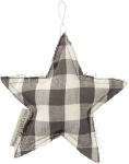 Buffalo Check Star Decorative Cotton Hanging Christmas Ornament 5 Inch from Primitives by Kathy