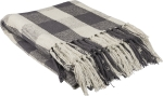 Farmhouse Style Buffalo Check Pattern Cotton Throw Blanket 50x60 from Primitives by Kathy