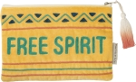 Free Spirit Velvet Zipper Pouch Travel Bag Handbag from Primitives by Kathy