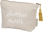 Adventure Awaits Zipper Pouch Travel Bag from Primitives by Kathy