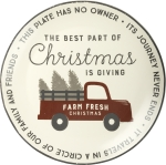 The Best Part Of Christmas Is Giving Decorative Stoneware Giving Plate 12 Inch from Primitives by Kathy
