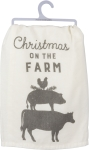 Christmas On The Farm Cotton Dish Towel 28x28 from Primitives by Kathy