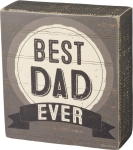 Best Dad Ever Decorative Wooden Box Sign from Primitives by Kathy