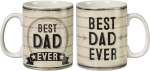 Best Dad Ever Double Sided Stoneware Coffee Mug 20 Ounce from Primitives by Kathy