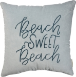 Beach Sweet Beach Luxe Velvet Decorative Throw Pillow 18x18 from Primitives by Kathy