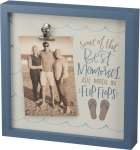 Best Memories Are Made In Flip Flops Photo Picture Frame (Holds 4x6 Photo) from Primitives by Kathy