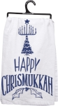 Happy Chrismukkah Cotton Dish Towel 28x28 from Primitives by Kathy
