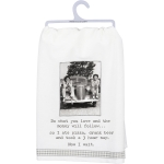 Do What You Love Eat Pizza Drink Beer & Nap Cotton Kitchen Dish Towel 28x28 from Primitives by Kathy