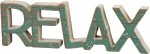 Word Art Relax Decorative Wooden Sign 10.5x3.5 from Primitives by Kathy