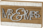 Mr. & Mrs. Slat Wood & Cut Metal Decoratinve Box Sign 15x9 from Primitives by Kathy