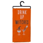 Drink Up Witches Cotton Dish Towel 20x26 from Primitives by Kathy