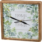 Floral Design Home Sweet Home Decorative Wall Clock 10x10 from Primitives by Kathy