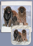 Leonberger Dog Lover Dish Towel & Pot Holder Set from Pipsqueak Productions