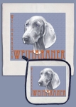 Weimaraner Dog Lover Dish Towel & Pot Holder Set from Pipsqueak Productions