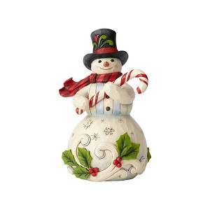 Candy Cane Snowman Figurine (How Sweet It Is) by Jim Shore Heartwood Creek from Enesco