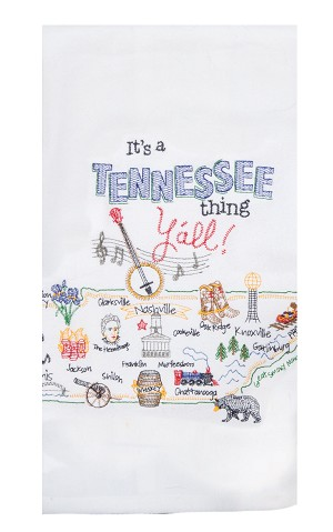 It's A Tennessee Thing Y'All Cotton Embroidered Kitchen Dish Flour Sack Towel 26x26 from Kay Dee Designs