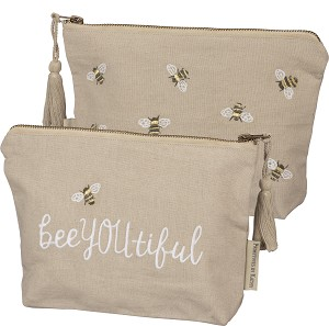 Bee You Tiful Bumblebee Design Zipper Travel Pouch from Primitives by Kathy
