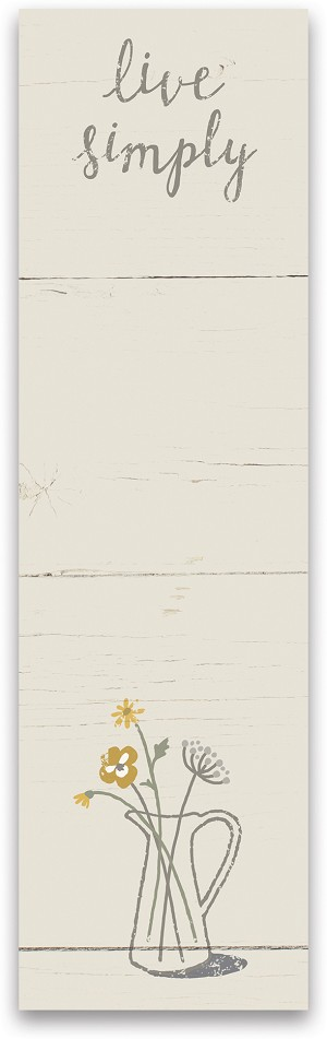Live Simply List Notepad (60 Pages) by Artist Cathy Heck Studios from Primitives by Kathy