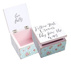 Your Dreams Know The Way Wooden Hinged Keepsake Box from Primitives by Kathy