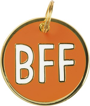 BFF Dog Collar Charm by Artist LOL Made You Smile from Primitives by Kathy