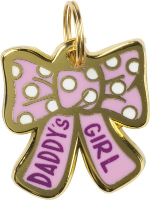Daddy's Girl Hard Enamel Dog Collar Pet Charm from Primitives by Kathy