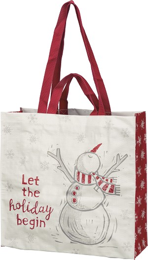 Let The Holiday Begin Market Tote Bag from Primitives by Kathy