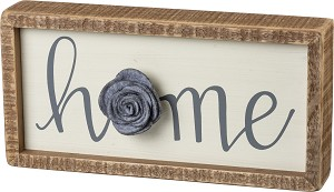 Home Decorative Inset Wooden Box Sign 10x5 by Artist Phil Chapman from Primitives by Kathy