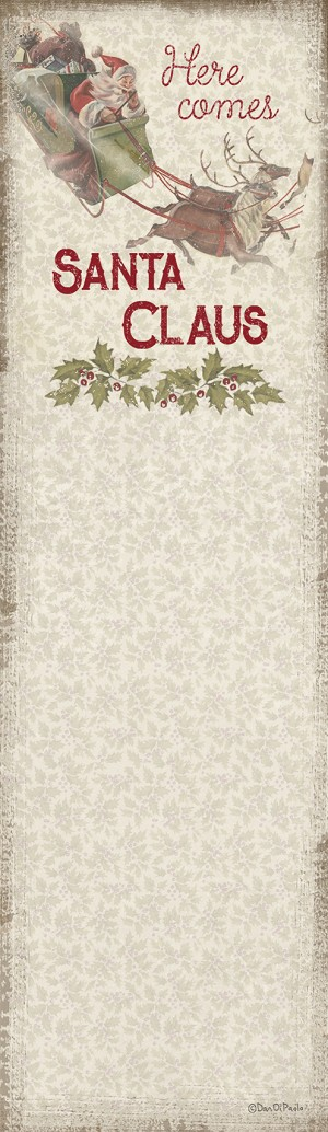 Here Comes Santa Claus Magnetic Paper List Notepad (60 Pages) from Primitives by Kathy