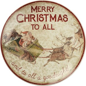 Merry Christmas To All A Goodnight Decorative Plate 12 Inch from Primitives by Kathy