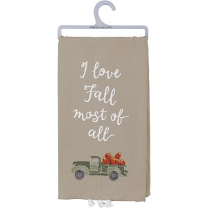 I Love Fall Most Of All Cotton Dish Towel 20x26 from Primitives by Kathy