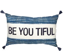Be You Tiful Luxe Velvet Throw Pillow 22x14 from Primitives by Kathy