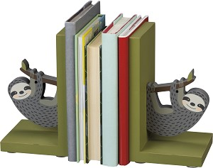 Sloth Design Decorative Bookends Set from Primitives by Kathy