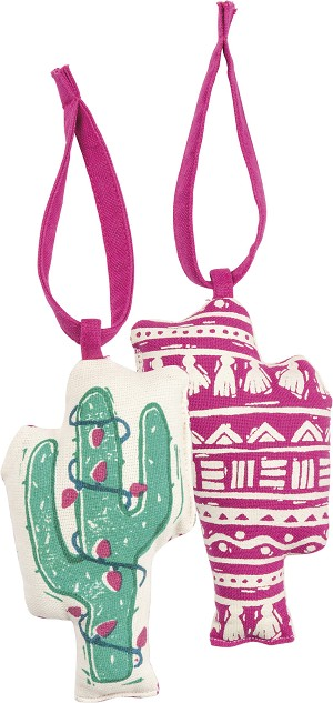 Cactus Lights Double Sided Hanging Ornament from Primitives by Kathy