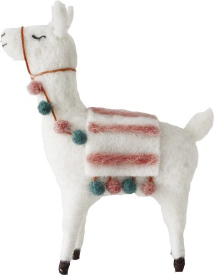 Boho Alpaca Figurine 6.5 Inch  from Primitives by Kathy