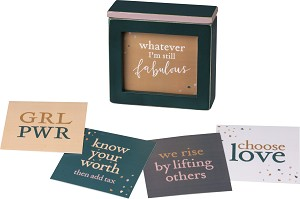 Words Of Wisdom Wooden Keepsake Box With Empower Themed Card  from Primitives by Kathy