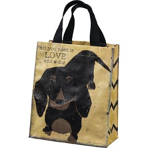 Dog Lover All You Need Is Love And A Dog Daily Tote Bag from Primitives by Kathy