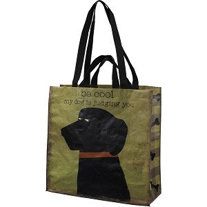Dog Lover Be Cool My Dog Is Judging You Market Tote Bag from Primitives by Kathy