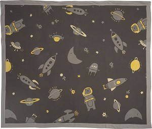 Galaxy Themed Super Soft Cotton Baby Security Blanket 35x29 from Primitives by Kathy