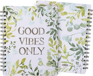 Good Vibes Only Spiral Notebook (120 Lined Pages) from Primitives by Kathy