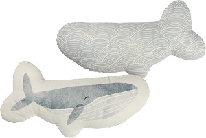 Whale Shaped Cotton Pillow from Primitives by Kathy