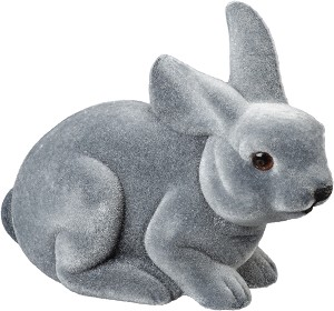 Gray Crouching Bunny Figurine from Primitives by Kathy