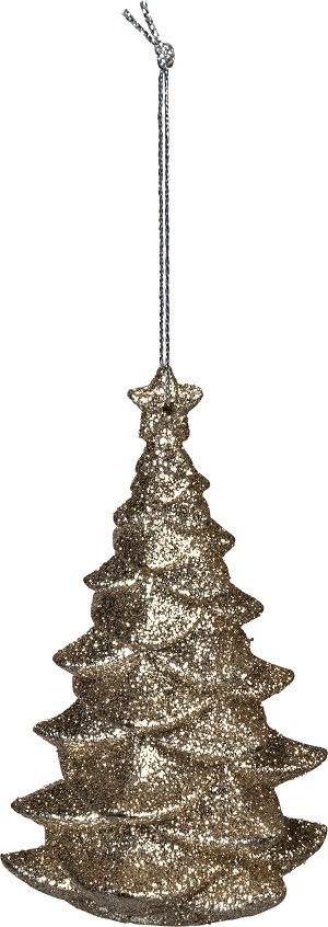 Glitter Evergreen Tree Hanging Christmas Ornament 4 Inch from Primitives by Kathy