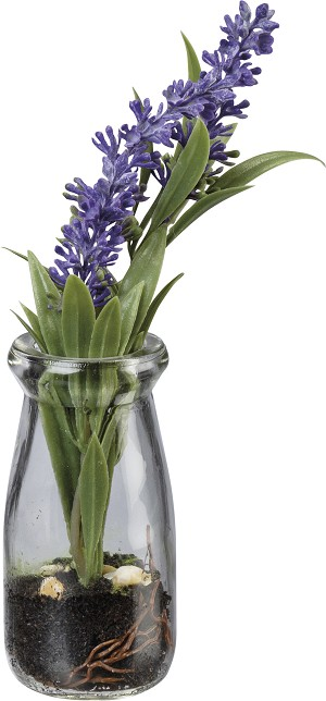 Small Glass Jar Vase With Artificial Lavender Botanicals from Primitives by Kathy