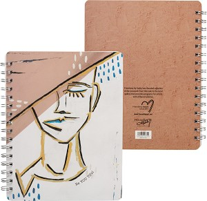 Be YOU tiful Spiral Notebook (120 Lined Pages) from Primitives by Kathy