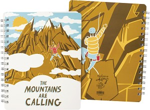 The Mountains Are Calling Spiral Notebook (120 Lined Pages) from Primitives by Kathy
