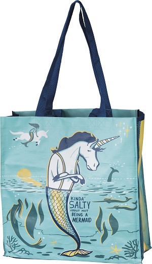 Kinda' Salty About Not Being A Mermaid Double Sided Market Tote Bag from Primitives by Kathy